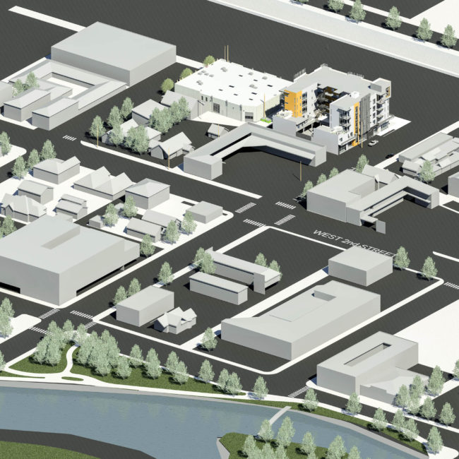 235 Ralston Street 3D Aerial View